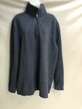 Croft & Barrow Sweatshirt Zip Up Blue Size XL Mens Fashion Long Sleeve NWOT