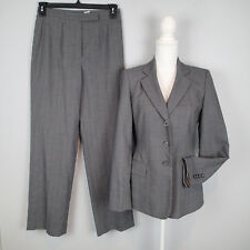 kasper BLAZER,SUIT,Jacket,pants SZ 4/6, career stripes gray w2