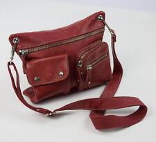 FOSSIL Brick Red Leather Shoulder Cross Body Messenger Handbag Satchel Purse S
