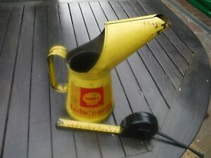 Vintage Shell Oil Can - QUART with Weights & Measure Stamp