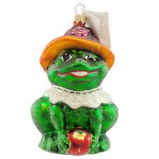 Christopher Radko | LITTLE MAE Blown Glass Ornament *NEW W/ TAGS* Frog Lillie
