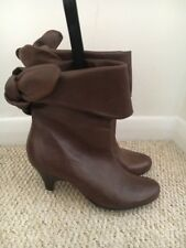 Buffalo Brown Leather Ankle Boots 3/36