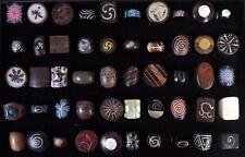 50 piezas al por mayor de joyas mixtas hueso de madera hecho a Mano Natural Moda Anillo muchos 53