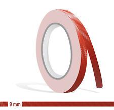 ZIERSTREIFEN - 9mm CARBON ROT GLANZ red 10m Auto 9 Stripe Boot 0,9cm Dekor