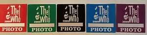The Who LOT of 5  2006-09 Greatest hits tour satin Backstage Pass photo LOOK