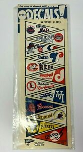 Vintage 1970's National League Mini Pennant Water Slide Decals