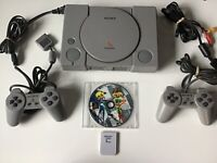 PlayStation One System Play Station PS1 + Controllers + CTR Crash Bandicoot