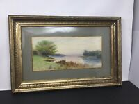 WILLIAM G. PUDDEFOOT Watercolor Painting Martha's Vineyard Landscape Listed