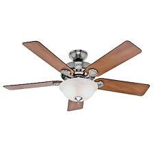 """HUNTER 52"""" Pro's Best Brushed Nickel Ceiling Fan w/ Light - Model #53249"""