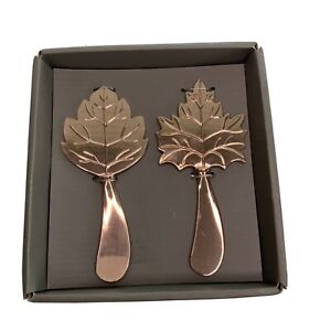 Thristystone Set Of 2 Copper/Metal Leaf Spreaders New