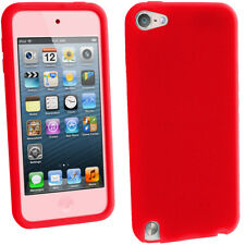 Red Silicone Skin Case for Apple iPod Touch 6th 5th Generation itouch Gel Cover