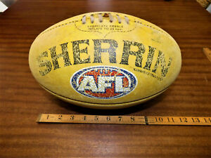 VINTAGE COLLECTABLE GOLD COAST SUNS SHERRIN LEATHER AFL FOOTBALL
