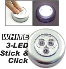 STICK AND CLICK LED SELF ADHESIVE LIGHT BATTERY OPERATED PUSH ON OFF LIGHTS