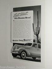New listing 1939 Buick ad, Buick sedan, Saguaro Cactus