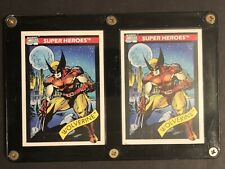 "1990 Marvel And 1991 Impel Marvel Universe  Toy Biz ""Wolverine"" Both Mint W Case"