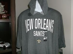New Orleans Saints Hoodie Pullover Nike Dri Fit shirt Men's 2XL Free Ship