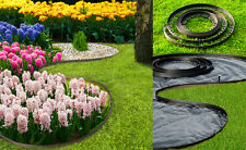 New flexible black garden edge 100meters edging for paths,borders+400 pegs
