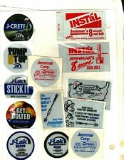LOT OF 13 DIFFERENT JENNMAR ROOF BOLTS & CHEMICAL COAL MINING STICKERS # 1099