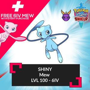 ✨SHINY✨ 6IV COMP MEW W/ FREE MEW Pokemon Sword Shield
