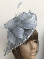 New Design Bespoke Silver Hatinator Fascinator Mother Of The Bride Wedding Ascot