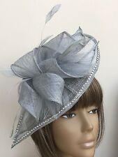 New Design Bespoke Silver Hatinator Fascinator Mother Of The Bride Wedding Ascot