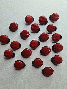 Ladybird Buttons X 5