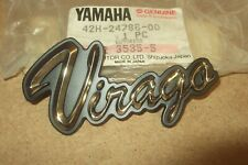 "YAMAHA XV700 XV1000 XV1100 VIRAGO GENUINE NOS ""VIRAGO"" EMBLEM - # 42H-24786-00"