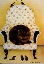 POSTCARD CARTE POSTALE ILLUSTRATEUR ANNA HOLLERER N° LA 145 / CAT / CHAT