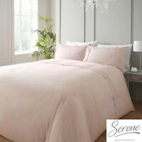 Serene RENAISSANCE Blush Easy Care Duvet Cover Set Bedding Quilt Bed Linen Pink