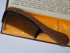 Empty Person@ Red sandalwood OX Horn Comb Closed Comb Mens/Lady Fine Hair Comb