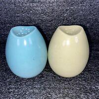 Vintage Egg Salt & Pepper Shakers, Blue & Yellow Speckled