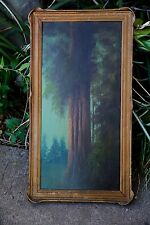 California Redwood Forest Original Oil Painting Arts Pie Crust Frame (201)
