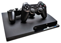 PlayStation 3 Slim Console 120GB + 2 Wireless Dual Shock Controllers PAL