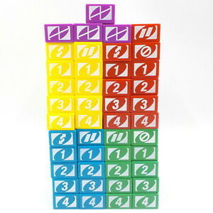 Uno Stacko Game Block Lot w/ 45 Replacement Pieces, 90s Family Strategy Stacking