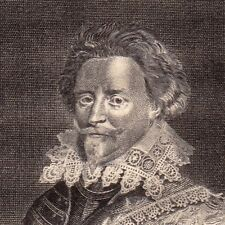 Portrait XVIIIe Frédéric-Henri d'Orange-Nassau Frederik Hendrik van Oranje