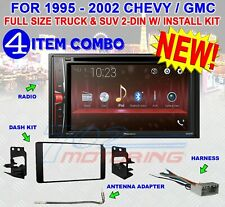 95-02 GM TRUCK/SUV DVD CD USB TOUCHSCREEN BLUETOOTH DOUBLE DIN CAR STEREO RADIO