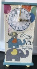 """Imagine Design """"First We Had Each Other� Baby Elephant Clock"""