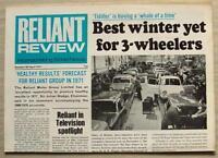 RELIANT REVIEW NEWSPAPER April 1971 No 46 Bond Bug SCIMITAR GTE