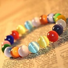 "Korean Fashion Opal Rainbow Crystal Healing Bracelets for women (0.3"")"