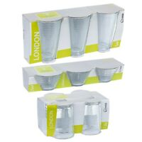 10 PCS Drinkware Serving Water Juice Whiskey Glasses Tumblers Ice Cream Bowl Set