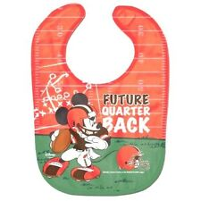 Cleveland Browns Baby Bib Disney Mickey Mouse Feeding Infant NFL Football Fan