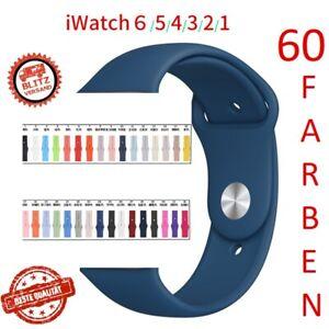 Für Apple watch 38 40 42 44 Silikon Sport Armband Band iwatch Serie 1-6 Ersatz