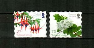 FALKLAND ISLANDS Scott's 1017-18 ( 2v ) Flowering Shrubs F/VF Used ( 2010 )