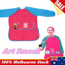 Kids Art Smock Waterproof Apron Long Sleeve Painting Craft Cooking Girls Boys
