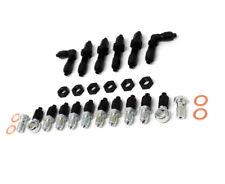 BRAKE LINE TUCK FITTING Kit Black w/ Banjo Bolts for Honda Civic / Acura Integra