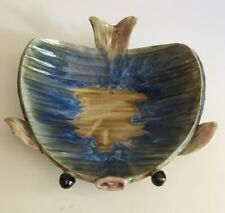 Hand Made Pottery Ceramic Fish Candy Dish Bowl Plate Nautical Whimsy GREAT GIFT