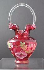 FENTON ART CRANBERRY GLASS. LEGACY COLLECTION. SIGNED BY BILL FENTON
