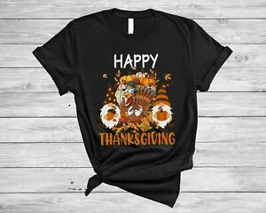 Happy Thanksgiving Cute Adorable Gnomes Turkey Pumpkin Fall Autumn T-Shirt, Mug