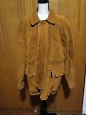 Mens Suede Leather Western Jacket Coat Sz Large