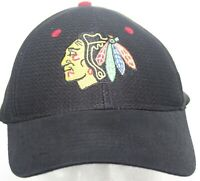 Chicago Blackhawks Kick 10 Pro Gear Snapback Cap - NHL Hockey - Black Mesh Hat